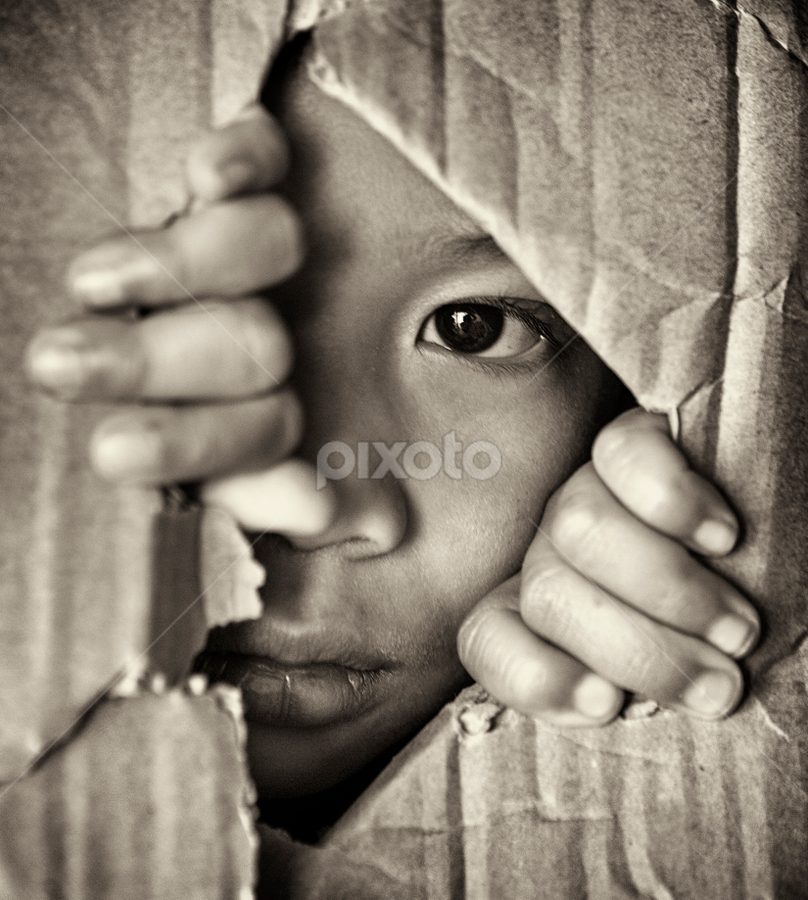 Hide and seek by Anz Defensor - Babies & Children Child Portraits ( hide, play, kids, toddler, eyes )