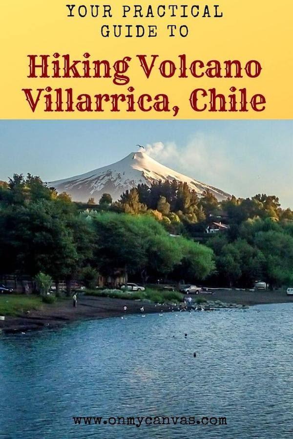 hiking volcano villarrica pinterest image