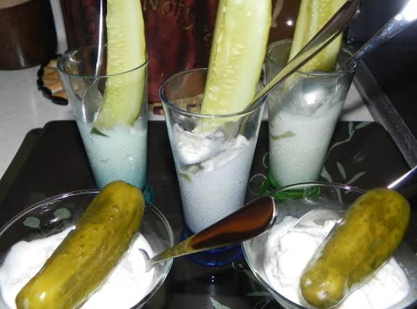Lady With A Baby Or Pickle Screams Dessert Shooters