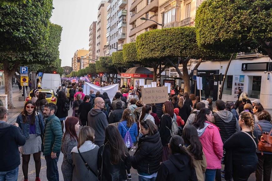 Marcha del 8M en Almería Capital.