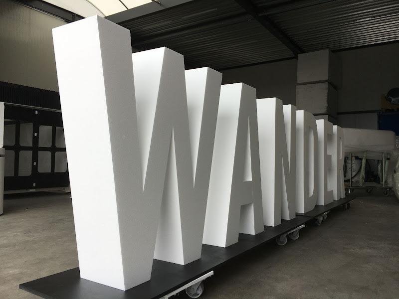 3D letters & logo's uit EPS en XPS - grote 3D letters WANDER