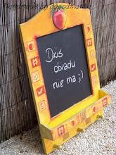 Photo: wooden BLACKBOARD