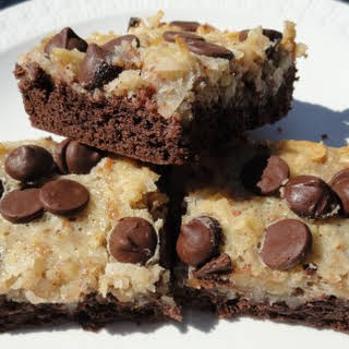 German Chocolate Cake Bars.