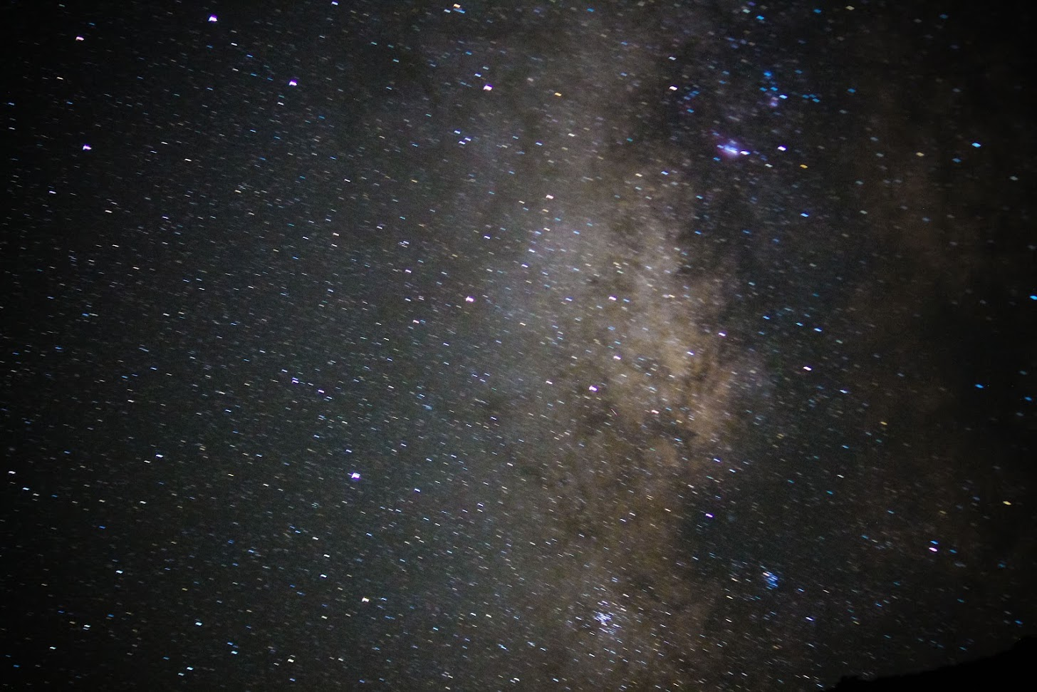 Blurry shot of milkyway