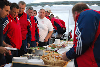 Photo: No opening ceremony without food. Photo:Patric Fransson