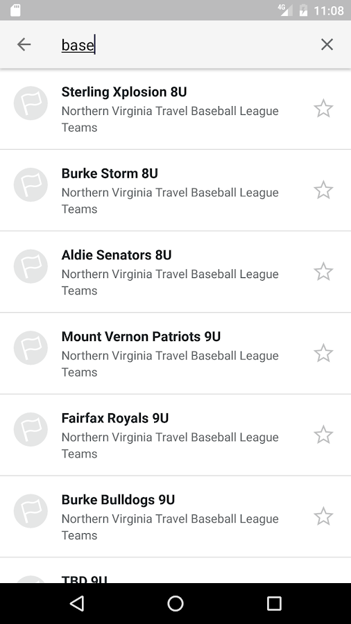 NV Travel Baseball League- screenshot