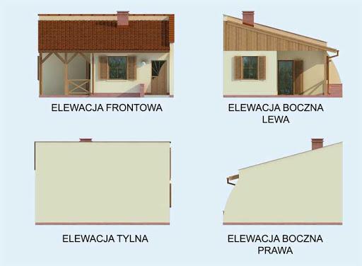 Lublana dom letniskowy szkielet drewniany - Elewacje