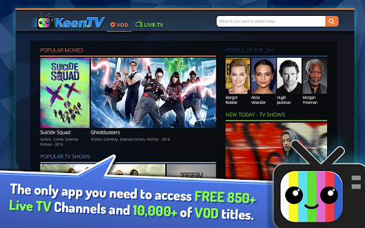 KEEN.TV Web Media Center - Live TV and VOD