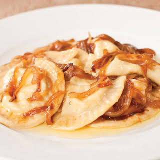 Pierogies with Brown Butter & Onions.