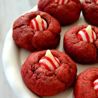Red Velvet Peppermint Thumbprints.