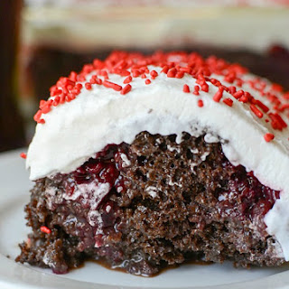 Cherry Coke Poke Cake.