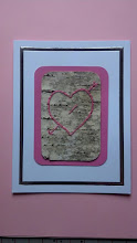 Photo: Love Card - II embroidery on birch bark $5 contact me to order (birch bark may vary)