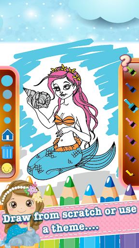 玩免費教育APP 下載美人鱼绘制彩图 app不用錢 硬是要APP