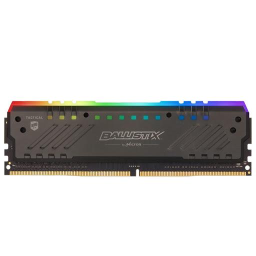 Bộ nhớ/ Ram Crucial Ballistix Tactical Tracer RGB 8GB DDR4 3000 Heatspreader (BLT8G4D30BET4K)
