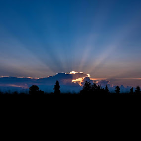 Rays by Donna Davis Kasubeck - Landscapes Sunsets & Sunrises (  )