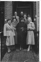 Photo: Op 17 jarige leeftijd werd mijn zus   aangenomen in de  Oud Katholieke kerk in Alkmaar. 20 -1- 1952.  In het midden staat Maartje. (Boven) Pastoor Rijke?
