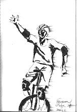 Photo: 飛行少年2011.07.28鋼筆 趁著成長營還沒開始,我到外面看另一班孩子練習獨輪車,幾年前盧蘇偉觀護人帶領一群信望愛少年學園的孩子踩著獨輪車完成環島的壯舉,希望這些孩子能從中鍛鍊刻苦精神,並同時產生正向的能量,讓他們的人生帶來改變;紀錄片後來改編成電視劇,但再怎麼樣還是比不上親眼看見孩子們揮著汗、臉上曬得紅冬冬更令人感動!
