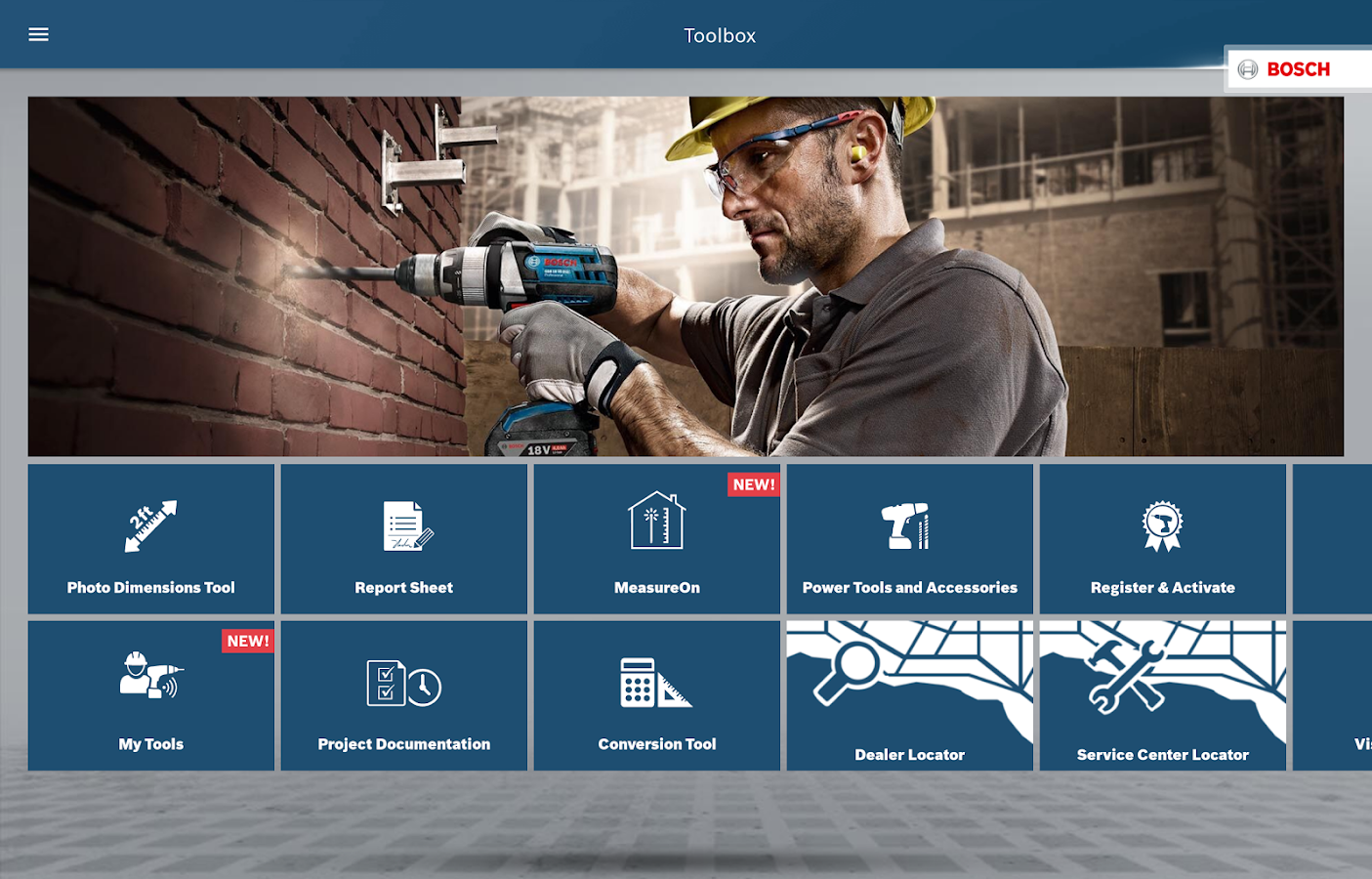 Bosch Toolbox- screenshot