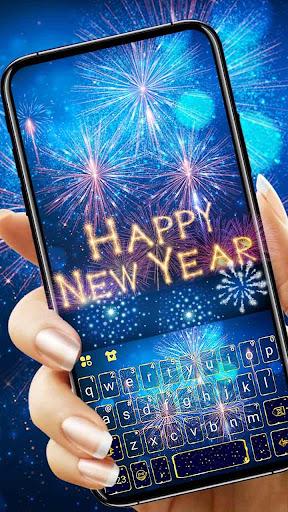 New Year Firework 2020 Keyboard Theme screenshots 3