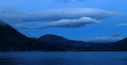 Photo: Picture book clouds over Lake San Pablo
