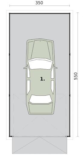 GB30 Garaż Blaszany - Rzut przyziemia