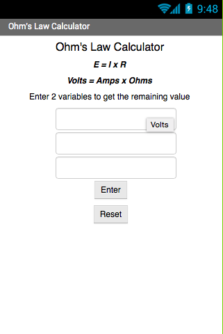Ohm's Law Calculator
