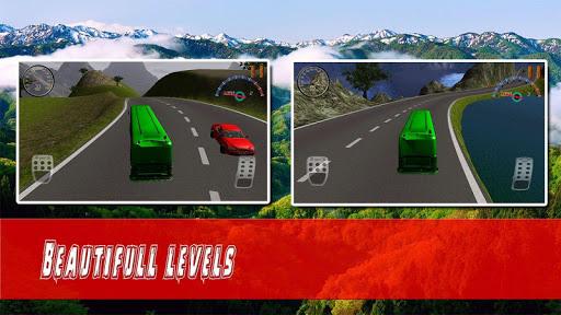 危険な道路バスドライブ