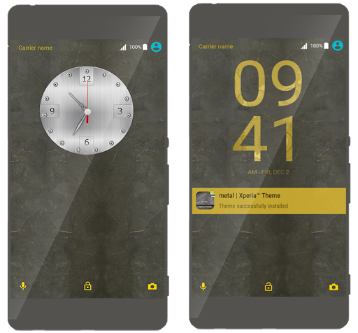 metal | Xperia™ Theme app for Android screenshot