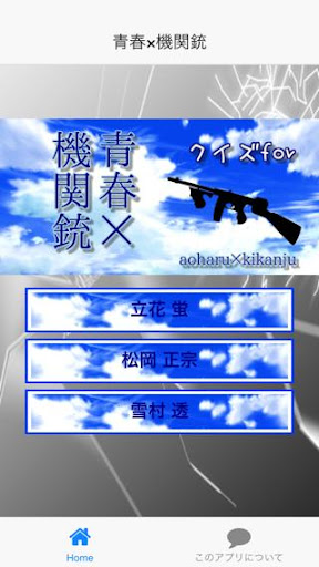 サバゲーアニメクイズfor青春×機関銃