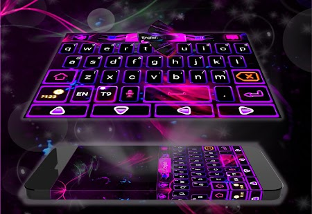 Purple Keyboard Theme - náhled
