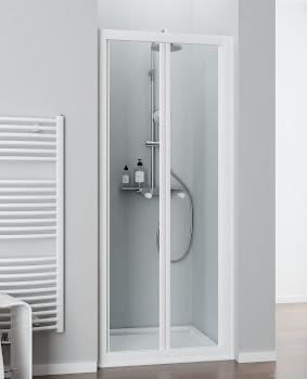 Porte de douche battante (vers l'intérieur), porte 65 à 120 cm, paroi latérale 25 à 120 cm