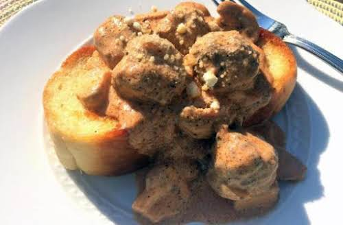 "Slow Cooker Meatball Stroganoff ""This is one comfort food dish... we just..."