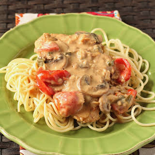 Veal Cutlets in a Creamy Marsala Sauce.