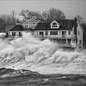 Monster Wave, Scituate Harbor by Peter Christoph - News & Events Weather & Storms ( pwcstorms-dq )