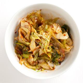 Kimchi-Style Sautéed Cabbage