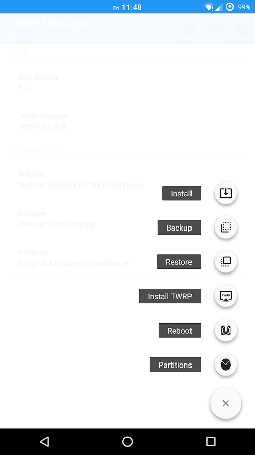 TWRP Manager  (Requires ROOT)- screenshot
