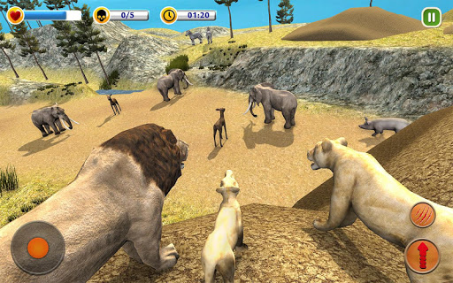 The Lion Simulator - Animal Family Simulator Game apktreat screenshots 1