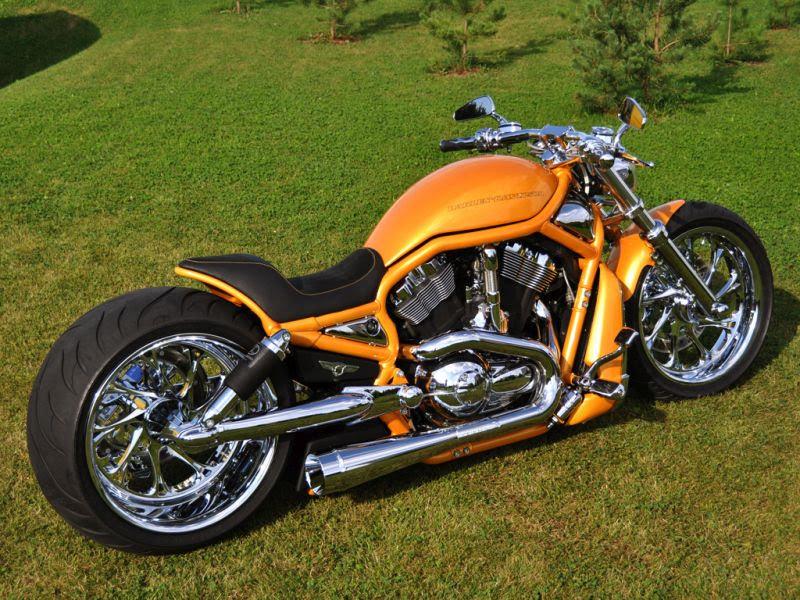 """Harley Davidson V Rod """"Orange"""" by Fredy"""