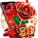 3D Gold Rose Theme icon