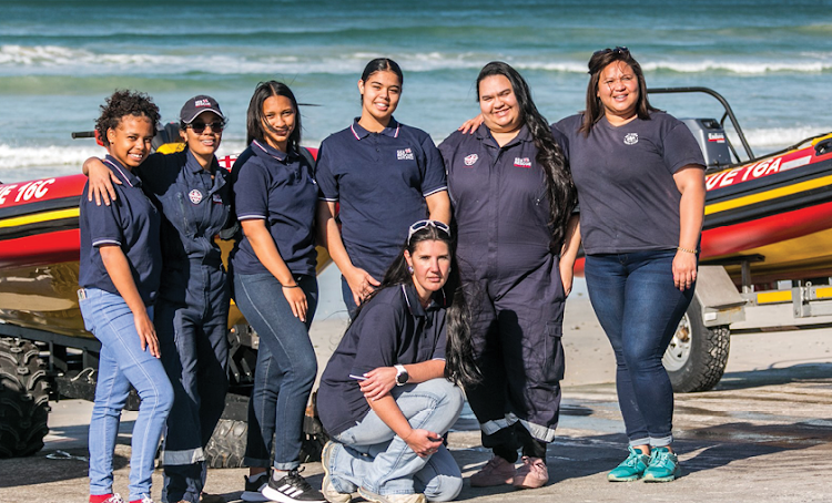 Some of the women who are making a difference at the NSRI station in Strandfontein.