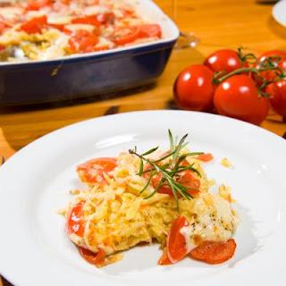 Cheesy Cheddar Tomato Casserole