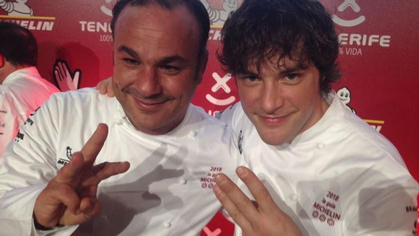 Ángel León y Jordi Cruz.
