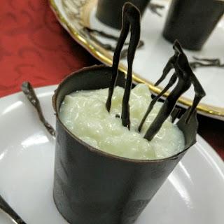 Rice Kheer with Chocolate Shots.