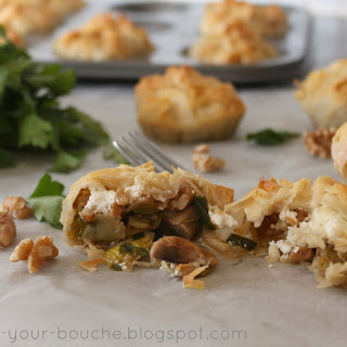 Leek, Mushroom And Goat's Cheese Parcels