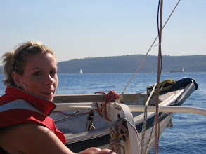 Photo: Barb aboard in Sydney Harbour