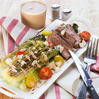 Grilled Romaine and Steak Salad