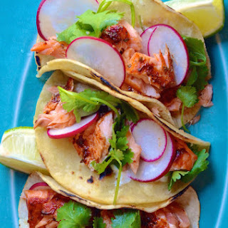 Spicy Chipotle Salmon Tacos.