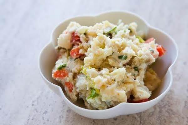 Caramelized Onion And Pepper Potato Salad