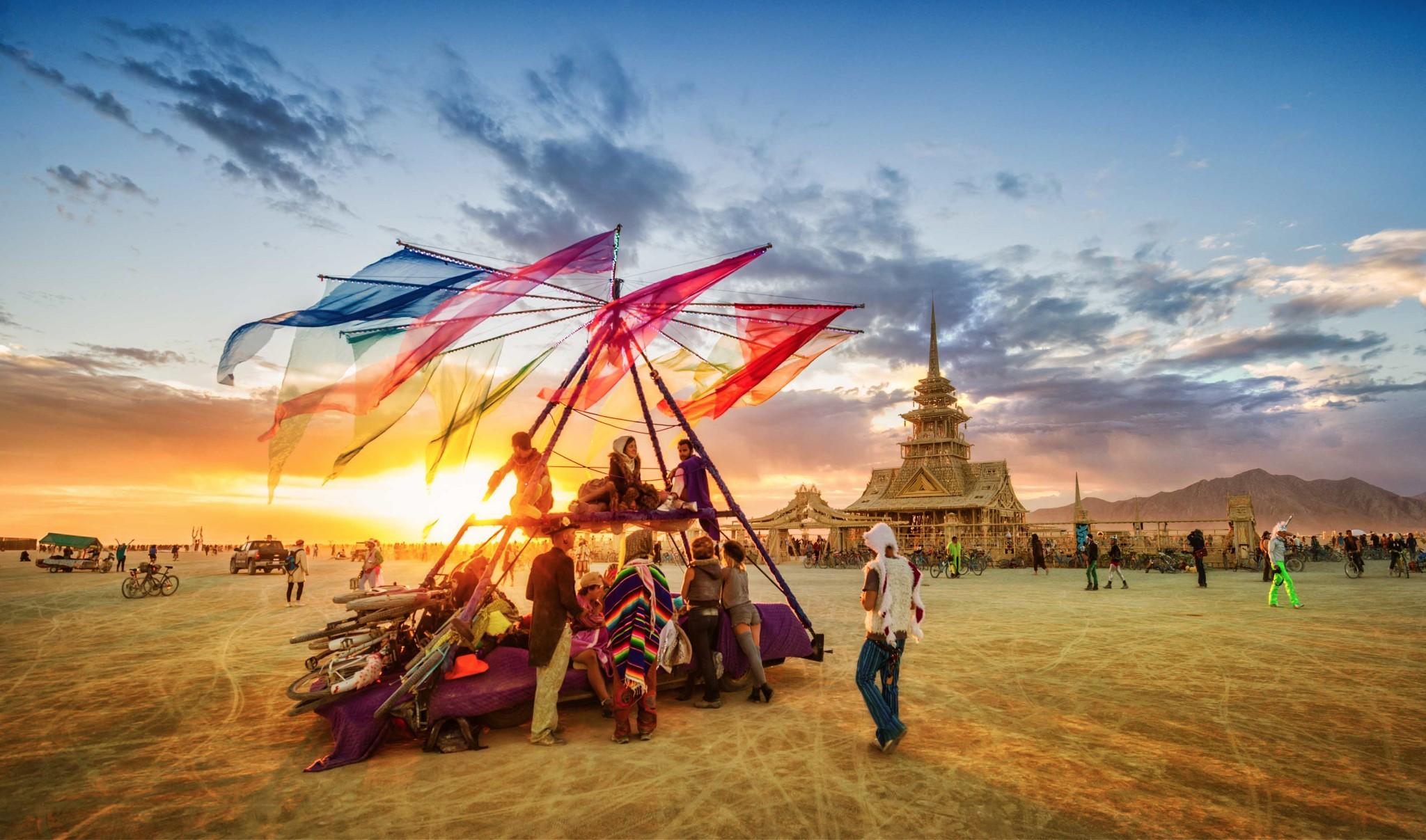 Photo: A cool, crisp, and welcoming morning at Burning Man...