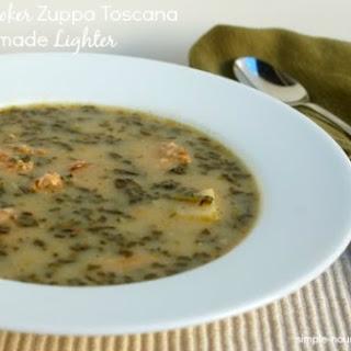 Slow Cooker Toscana Soup Made Lighter